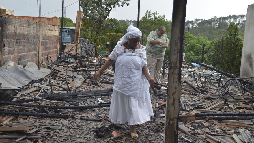 """El """"terreiro"""" Ylê-Axé-Oyá-Bagan ha sido uno de los atacados en los últimos años en Brasil por extremistas evangélicos"""