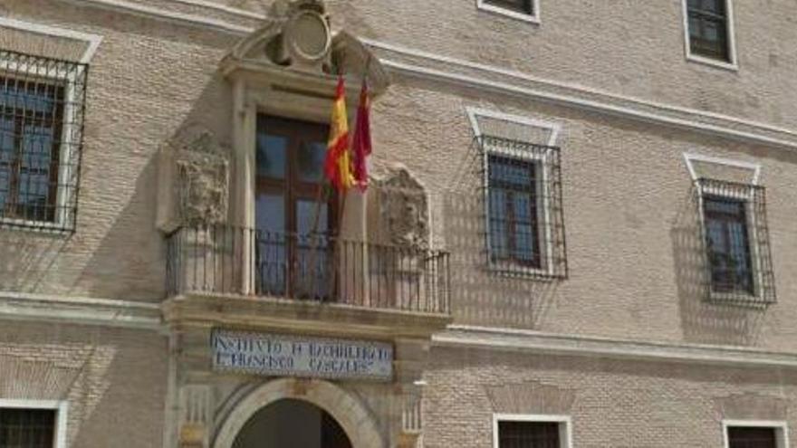 IES Francisco Cascales, donde estudiaba la joven que se quitaba la vida el pasado martes en Murcia