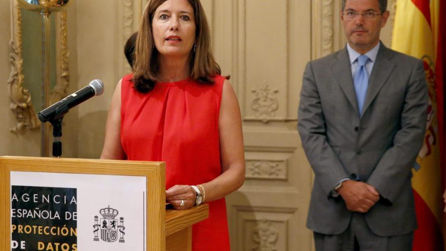 La directora de la Agencia Española de Protección de Datos, Mar España Martí, en el acto de toma de posesión