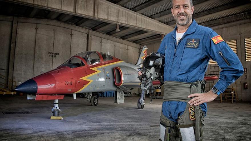 El piloto fallecido en el accidente aéreo en La Manga, el comandante Eduardo Fermín Garvalena Crespo/ EJÉRCITO DEL AIRE