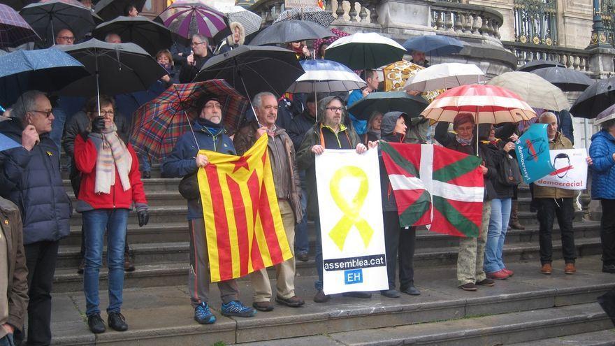 Concentración en favor de los políticos catalanes presos