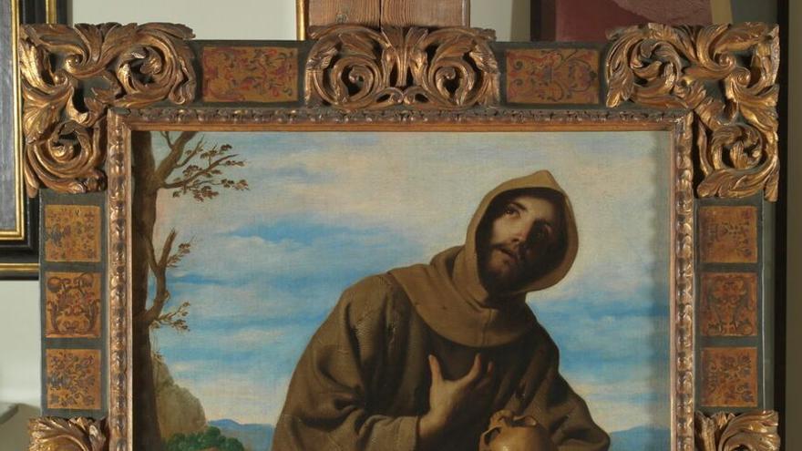 San Francisco en oración,obra de Zurbarán