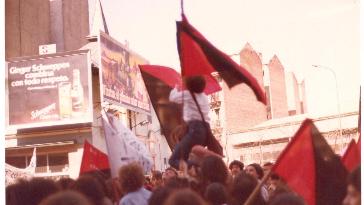 Manifestación del Primero de Mayo de CNT en 1979