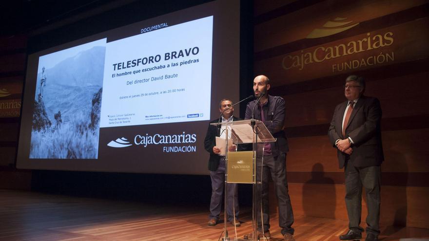 Imagen de archivo del estreno del documental en el marco del Otoño Cultural CajaCanarias, el pasado mes de octubre.