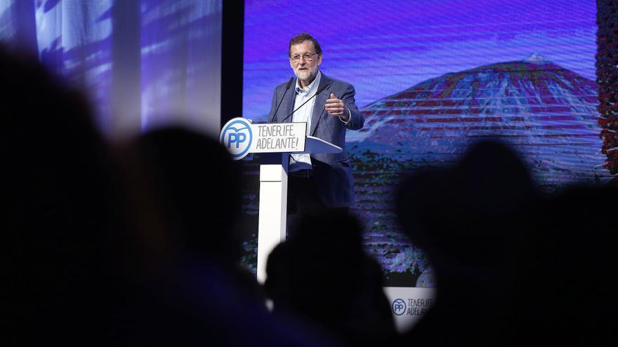 Mariano Rajoy, en su alocución de este sábado en el Congreso del PP de Tenerife