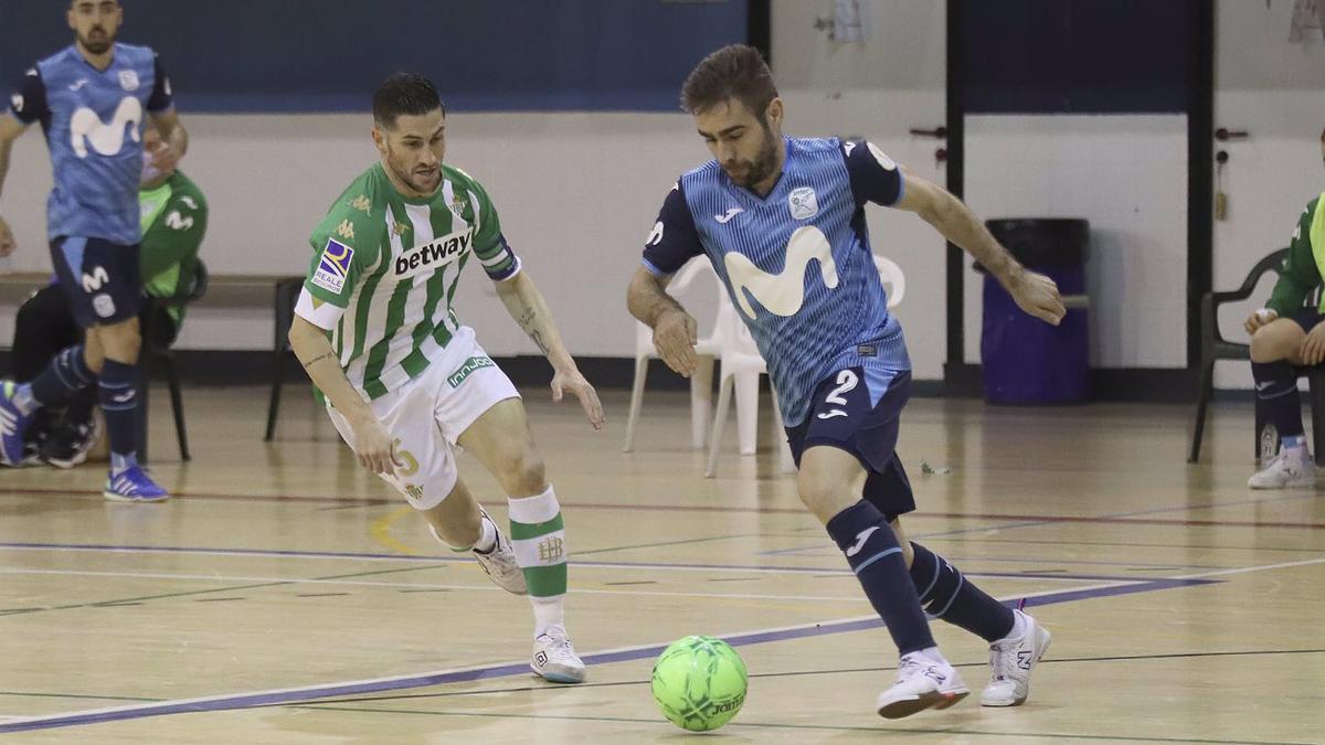 Cecilio, con el Inter ante el Real Betis.