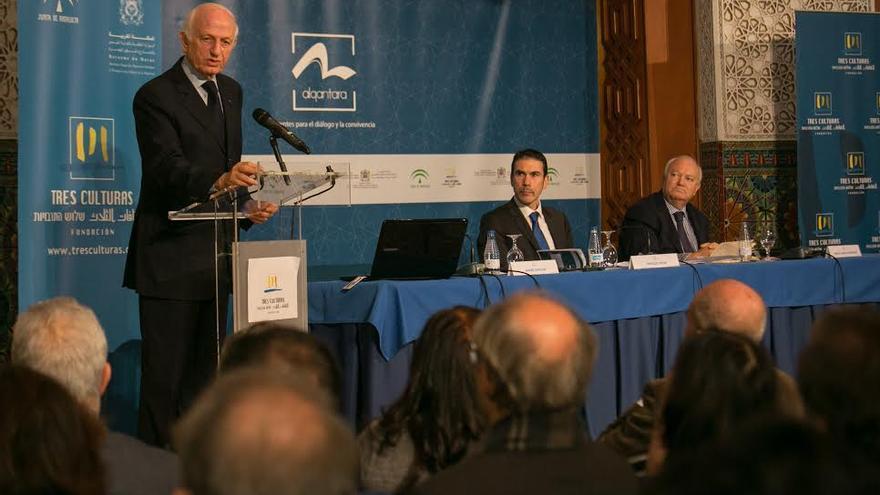 Momento de la reunión del patronato de la Fundación Tres Culturas