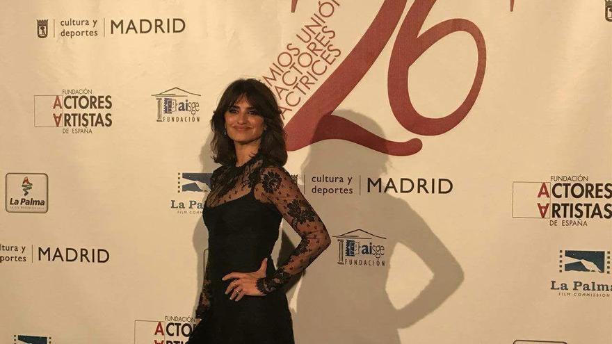 Penélope Cruz asistió a la gala de entrega de los premios de la Unión de Actores y Actrices de España 2017,