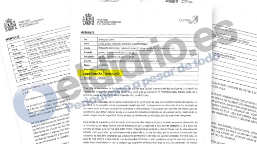 Correos de las embajadas y consulados