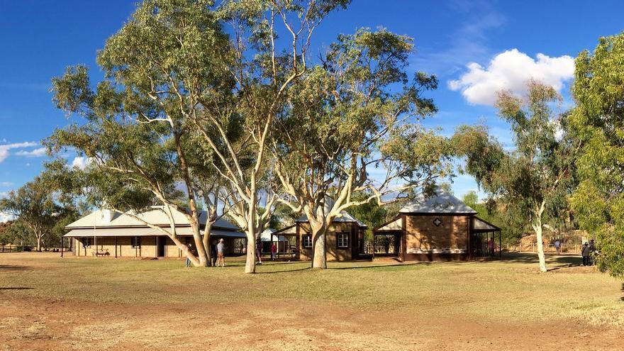 La estación del telégrafo fue el germen de la ciudad de Alice Springs. mrpbps