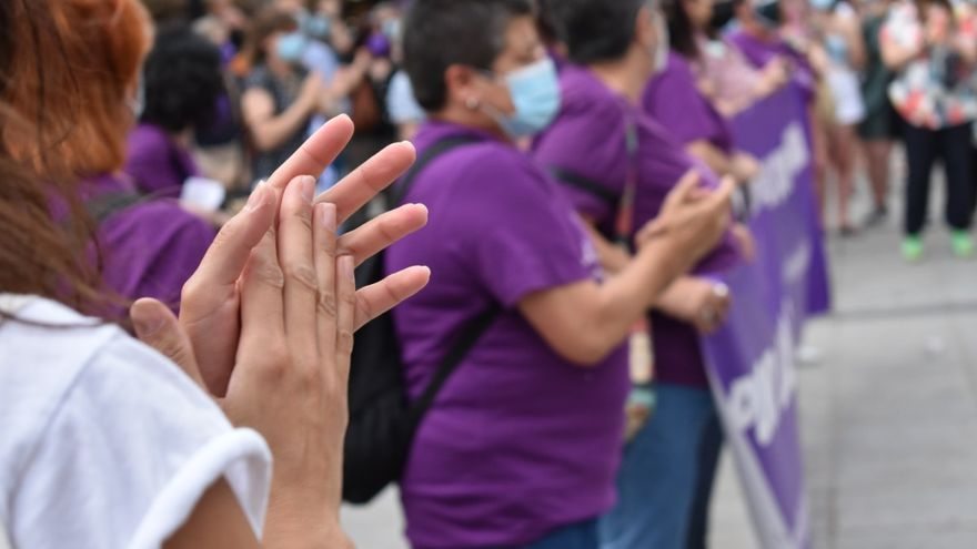 Manifestación feminista en Toledo.