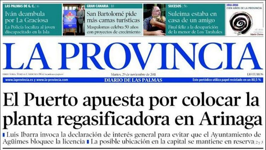De las portadas del día (29/11/2011) #3