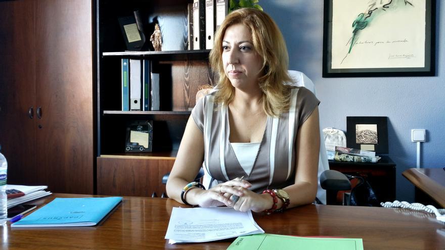 La alcaldesa de Puerto de la Cruz, Sandra Rodríguez.