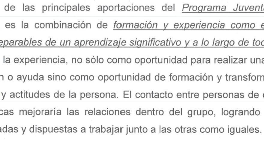 Documento entregado por Alfredo de Miguel