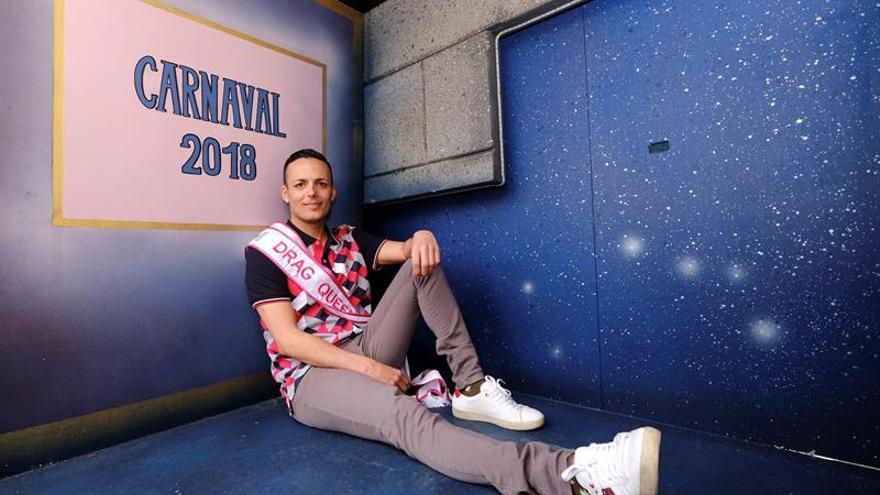 Sergio León, Drag La Tullida, en el escenario del Carnaval