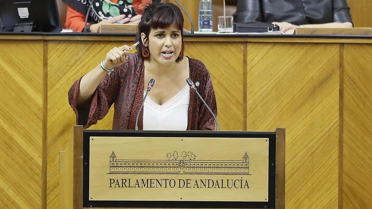 La diputada andaluza Teresa Rodríguez. EFE/José Manuel Vidal/Archivo