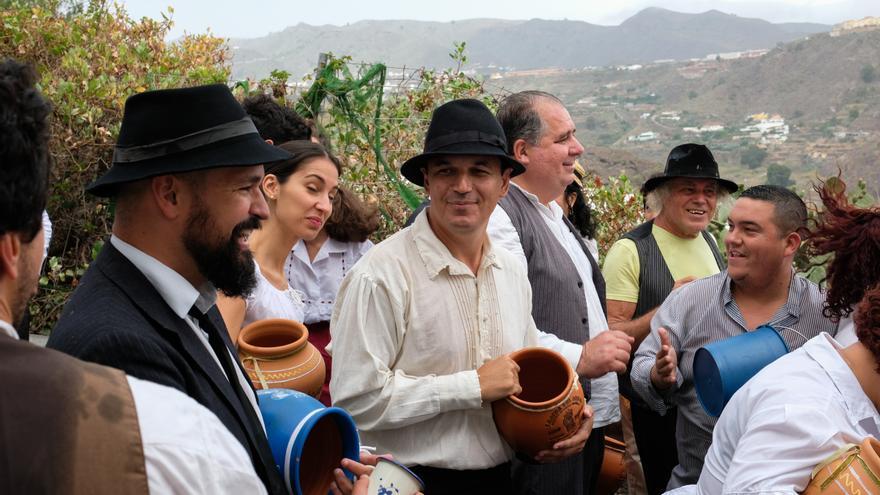 Pablo Rodríguez en plena Traída del Agua.
