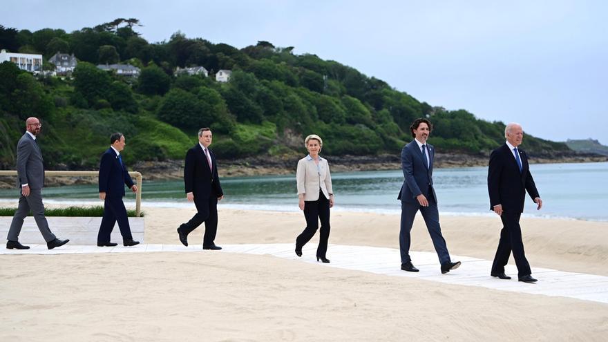 Los líderes del G7, durante la cumbre de Cornualles (Inglaterra)