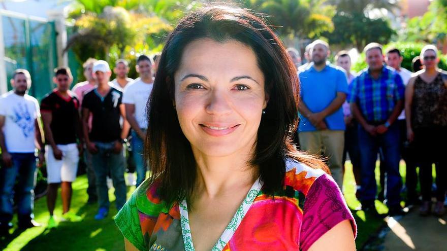 Isabel Santiago, edil de Nueva Canarias en Mogán.