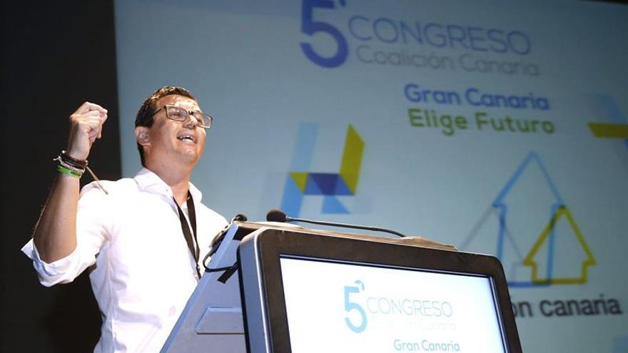 Pablo Rodríguez, durante su intervención en el V Congreso de CC en Gran Canaria
