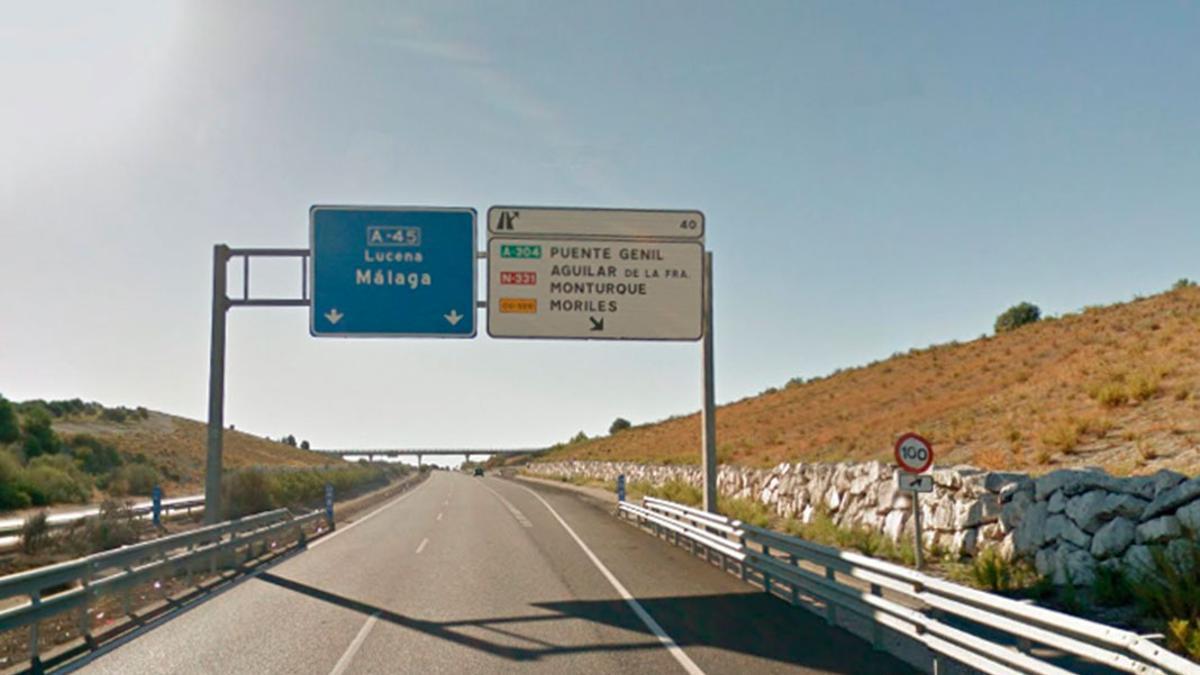 Autovía A-45 que une Córdoba con Málaga.