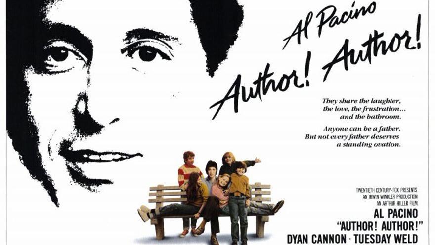 Cartel de la película de Arthur Hiller '¡Autor, autor!', protagonizada por Al Pacino