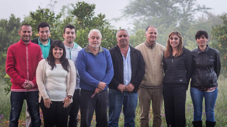 En la imagen, los miembros de Nueva Canarias en Garafía.
