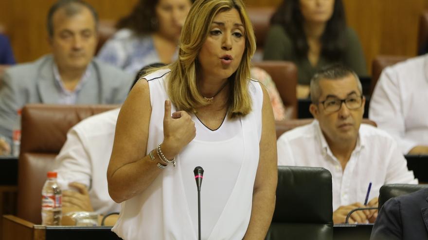 """Susana Díaz saluda que con el impulso del PSOE y """"pese al veto del Gobierno"""", el Congreso tramitará suspender la Lomce"""