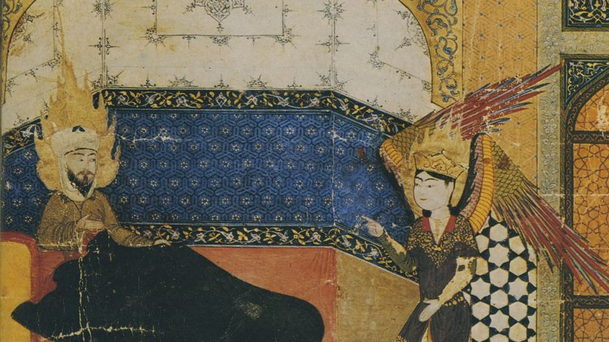 Ibn Arabi durante una de sus inspiraciones.