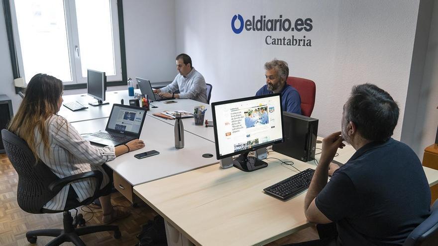 Algunos de los miembros de la redacción de elDiario.es Cantabria.