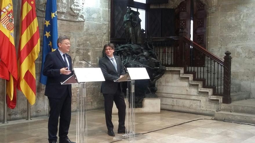 """Ximo Puig quiere que Catalunya continúe """"en una España diferente"""""""