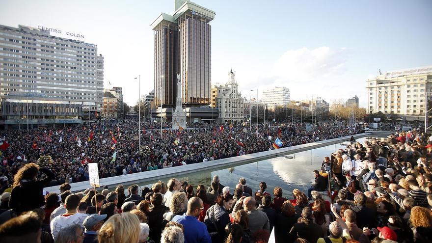 La manifestación, a su llegada a Colón / Olmo Calvo