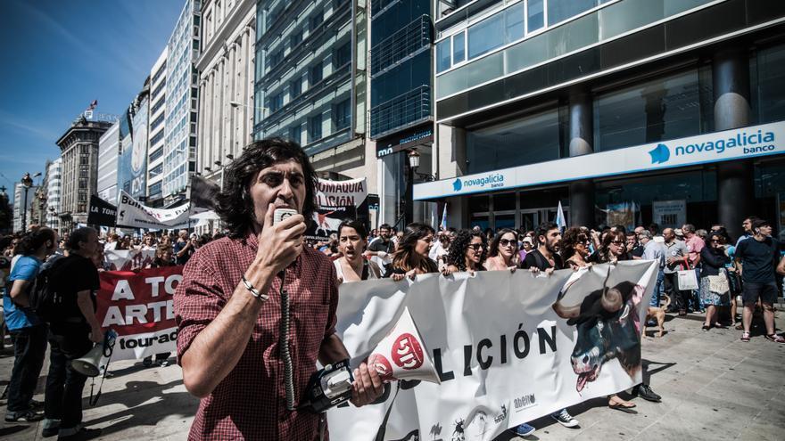 """Manifestación abolicionista en A Coruña. Foto: """"Galicia, Mellor Sen Touradas"""""""