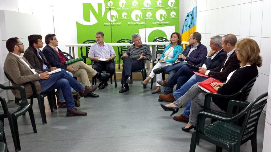Reunión entre Las Palmas de Gran Canaria Puede, Nueva Canarias y el PSOE para llegar a un acuerdo en Las Palmas de Gran Canaria.