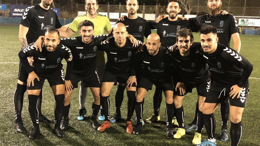 Formación que presentó el equipo de Acentejo en el Anexo Antonio Domínguez
