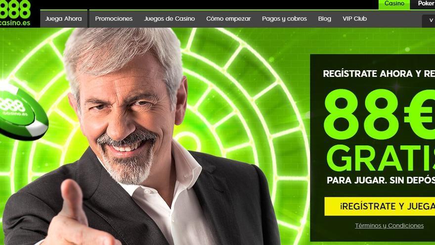 Carlos Sobera, imagen actual de la publicidad de un negocio de apuestas.