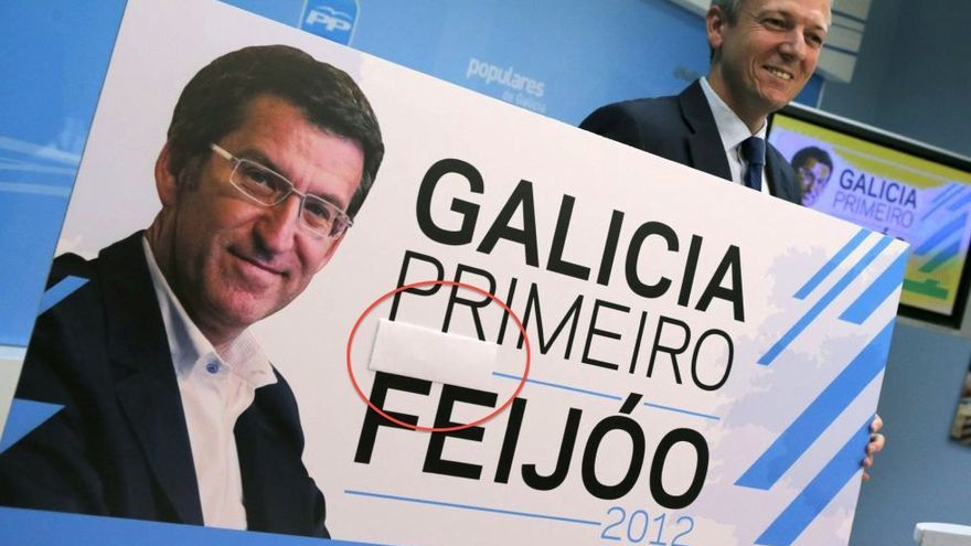 El PP presenta el cartel con el eslogan de la campaña de Núñez Feijóo.