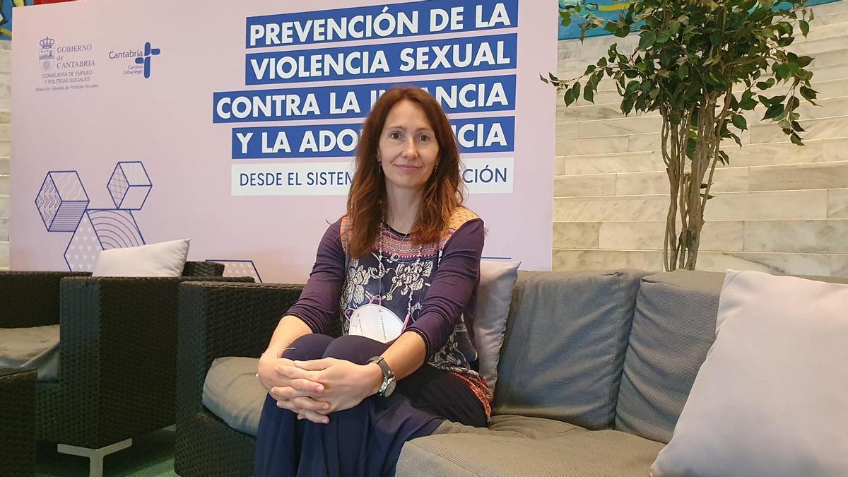 Amaia Bravo durante el seminario.