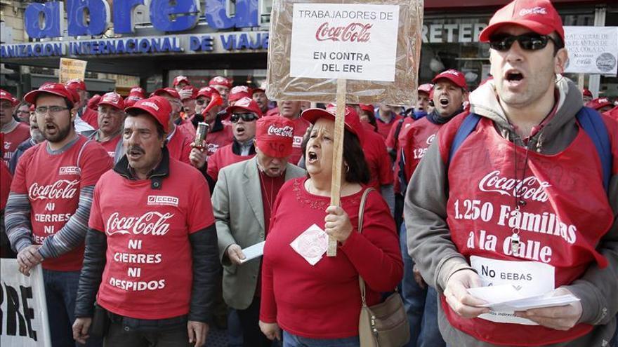 Asturias, Palma y Alicante aceptan al 100 por ciento el ERE de Coca-Cola, Madrid al 60 por ciento