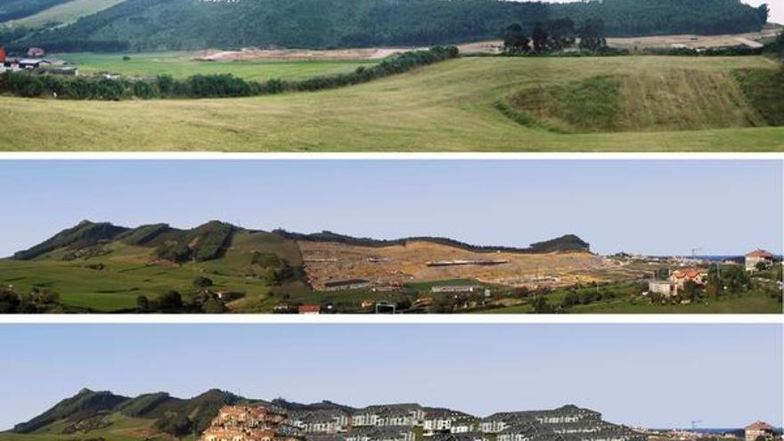 Modificación del monte La Picota con su urbanización, declarada ilegal.