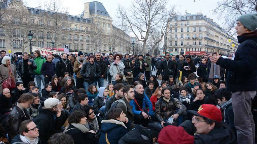 Manifestación en París