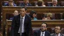 """Pedro Sánchez: """"Las fuerzas del cambio tenemos la responsabilidad de ofrecer una solución al país"""""""