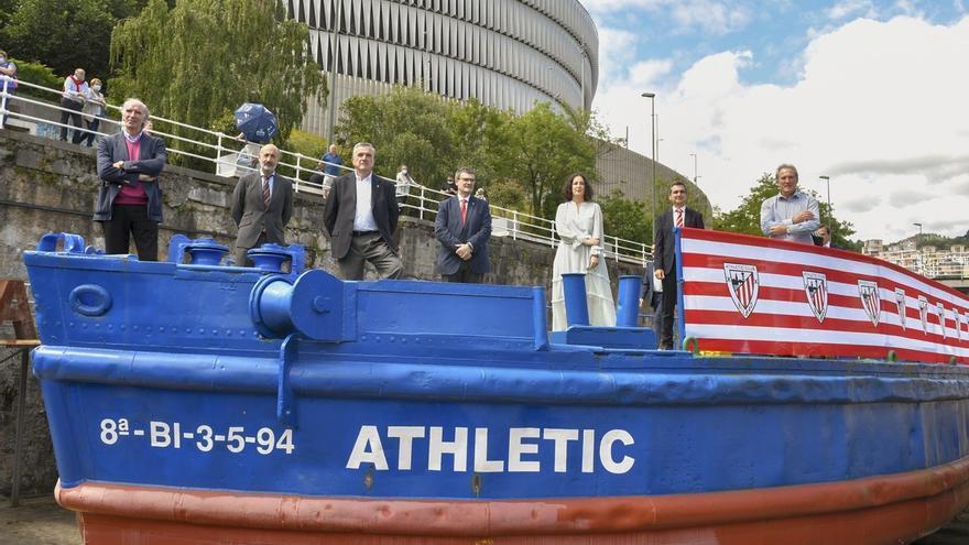 Athletic e Itsasmuseum Bilbao firman un convenio para recuperar la gabarra que podría navegar en diez semanas