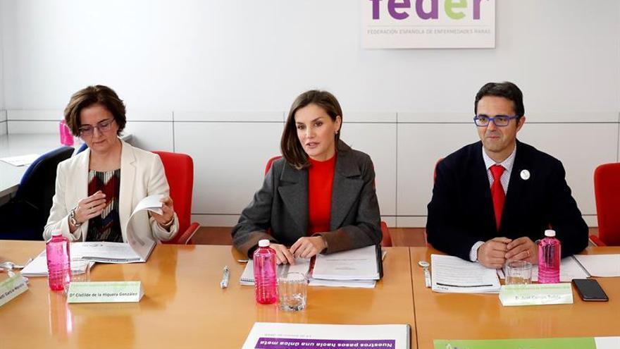 Feder expone a la Reina su nueva campaña en favor de la investigación
