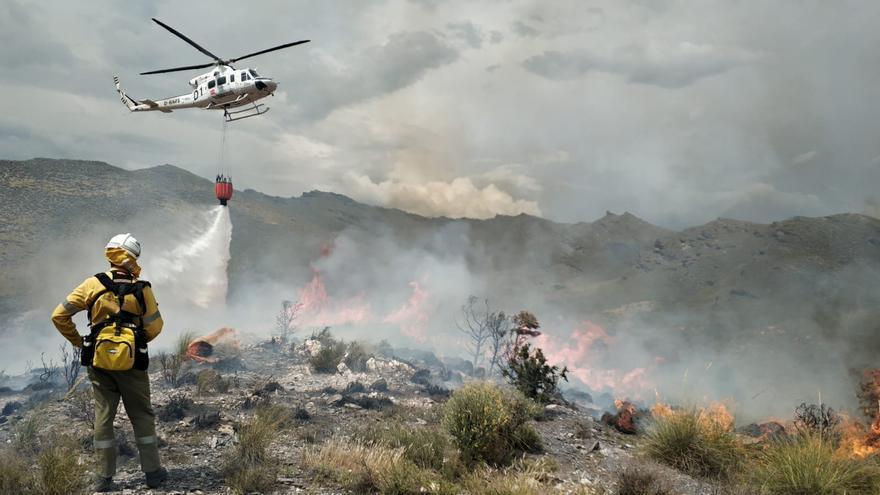 Incendio de Tabernas (Almería). Foto: Infoca