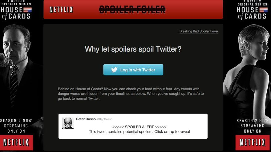 Solución de Netflix para evitar los spoilers