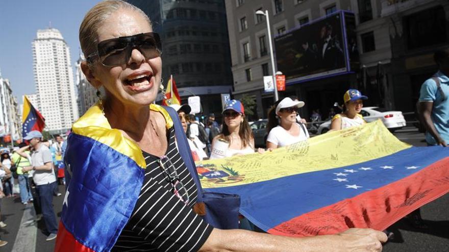 Una de las participantes en la manifestación celebrada hoy en Madrid / EFE