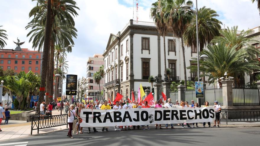 Marcha por la Dignidad en Las Palmas de Gran Canaria.