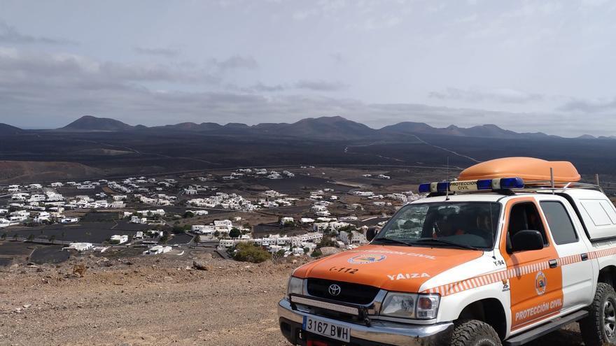 Vehículo de Protección Civil de Yaiza en Lanzarote.