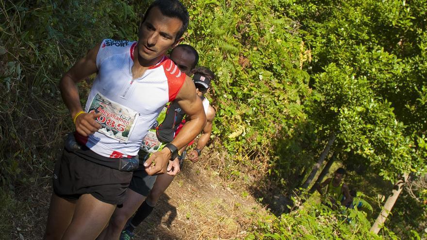 Antonio Martín Rocha, del club Pichón Trail Project , con un tiempo de 2 horas, 09 minutos y 17 segundos, fue el vendedor de la IV Adeyahamen Trail. Foto: Alexis Martín.